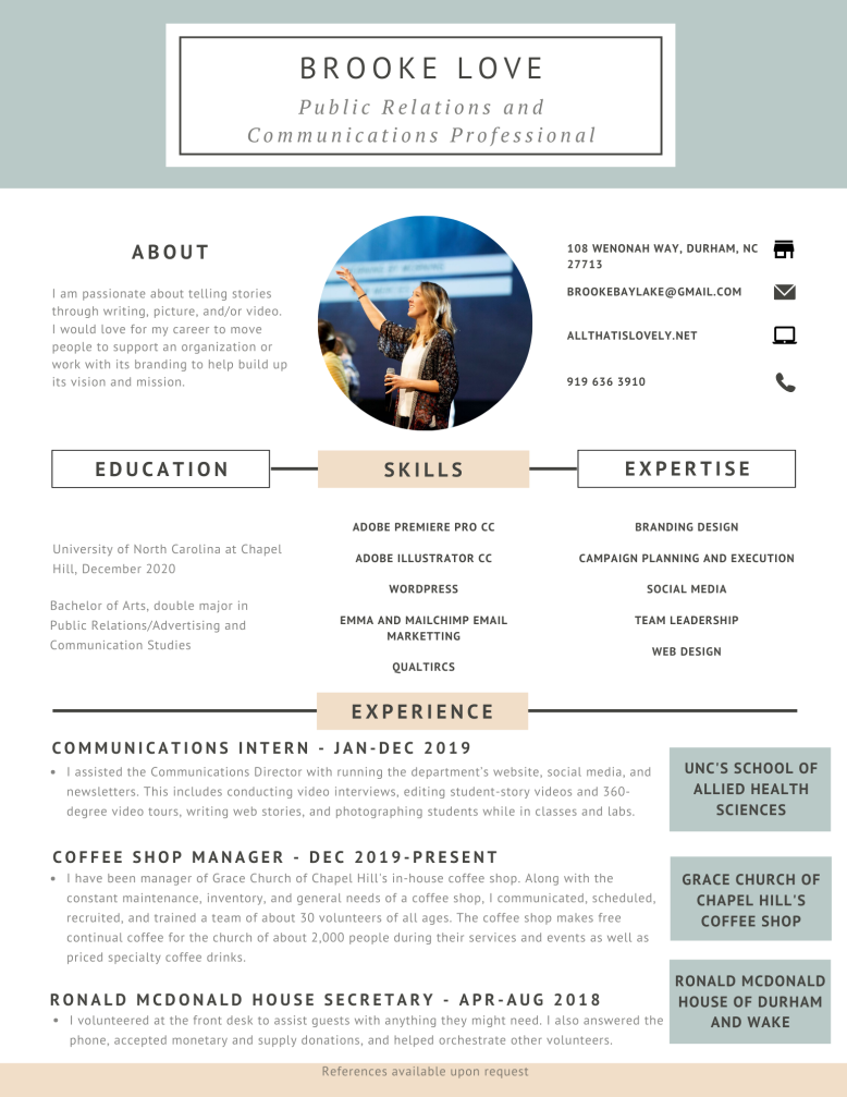 Pink Blue Design Resume (2)